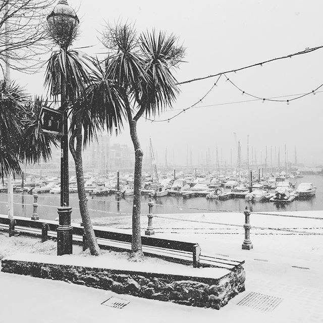 Stunning aerial views of the Bay in the Snow – video